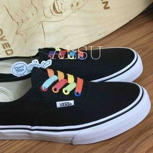 VANS Authentic Rainbow Shine Black Kid's AUTHENTIC